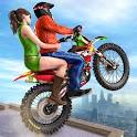 Rooftop Bike Driving Simulator : Bike Taxi Games icon