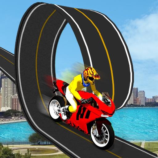 Racing Moto Bike Stunt : Impossible Track
