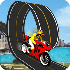 Racing Moto Bike Stunt : Impossible Track