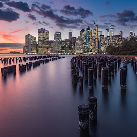 Manhattan skyline by Matti Savolainen - Landscapes Sunsets & Sunrises
