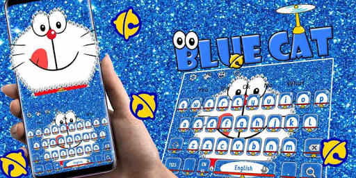 Kawaii Blue Cat Diamond Keyboard 10001001 screenshots 5