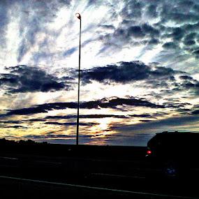 Burning Sky by Marilyn Kruger - Landscapes Cloud Formations