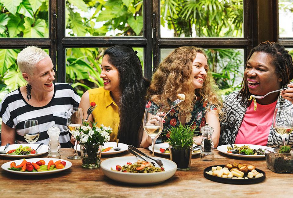 Women Over 40 Eating & Having Fun