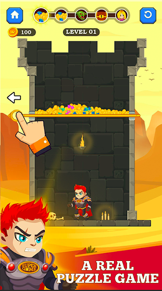 Hero Rescue 2 - Pull Him Out !