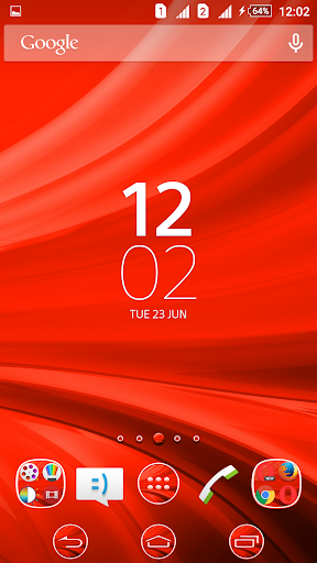 Waves Red XZ Theme