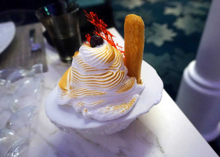 A Dream Sundae dessert at Wonderland on Harmony of the Seas.