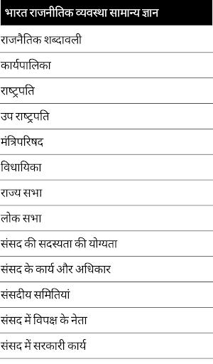 India Politics GK in HIndi