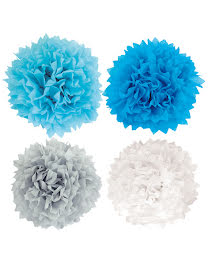 Pompoms light blue