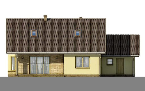 D34 - Antoni wersja drewniana - Elewacja tylna