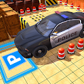 Police car parking simulator 3D 2021 icon