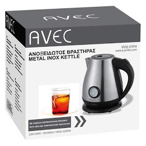 Ceainic AVEC 1.7 L, 220 W, otel inoxidabil cu indicatie de temperatura
