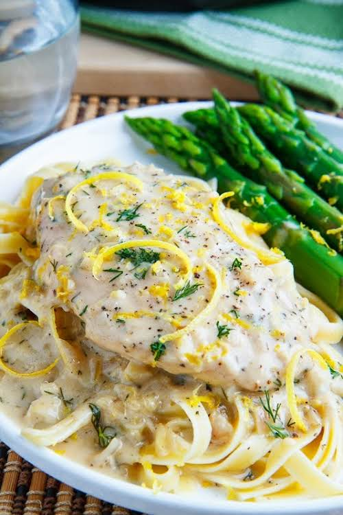 "Creamy Lemon Chicken""A light and fresh creamy lemon chicken that is quick..."