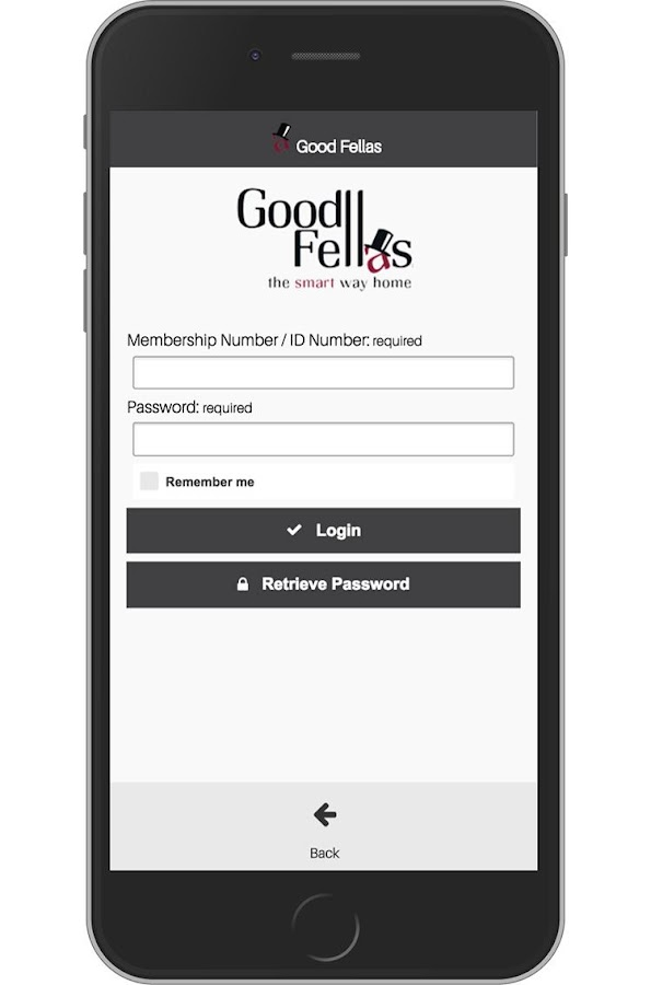 Good Fellas - Booking App- screenshot