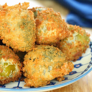 Fried Hot Stuffed Cherry Peppers.