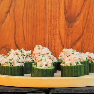 Creamy Tuna-Stuffed Cucumber Cups.
