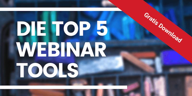Ratgeber herunterladen: 5 Top Webinar-Tools