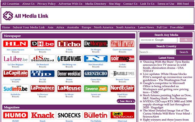 Belgium Online Newspapers and Live Radios