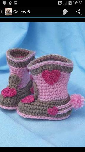Crochet Pattern Child Boots