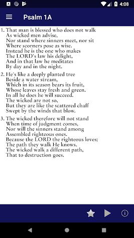 Psalms for Worship Screenshot