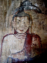 Photo: Year 2 Day 57 -  Buddha Paining in Sulamani Guphaya Temple