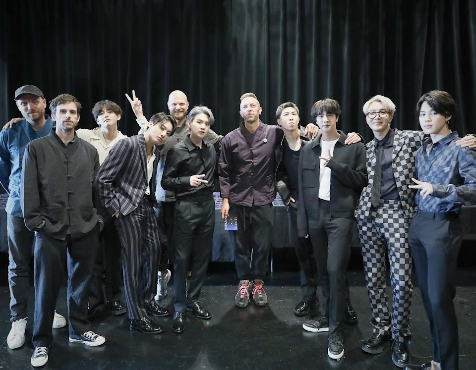 bts and coldplay
