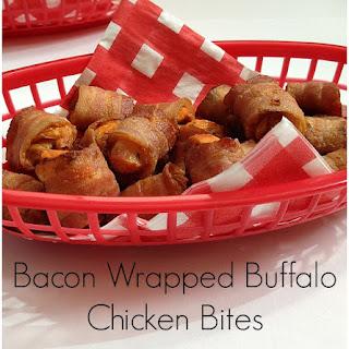 Bacon Wrapped Buffalo Chicken Bites