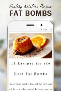 Healthy KetoDiet Recipes - Fat Bombs Food - náhled