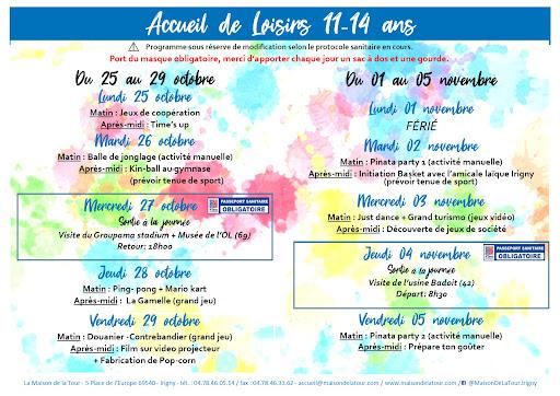 Programme automne 11-14 ans