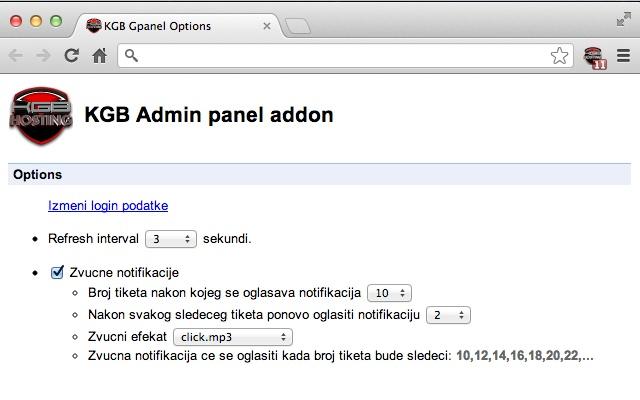 KGB Hosting GPanel (Admin)
