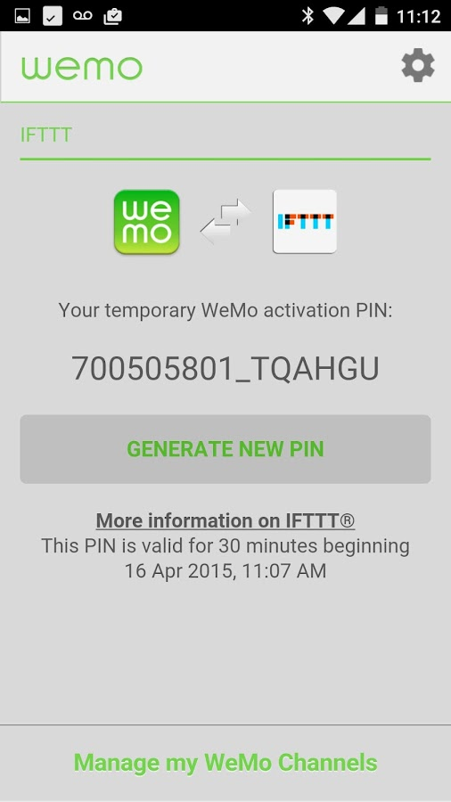 WeMo - screenshot