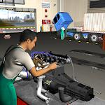 USA Truck Mechanic Garage 3D Sim: Auto Repair Shop
