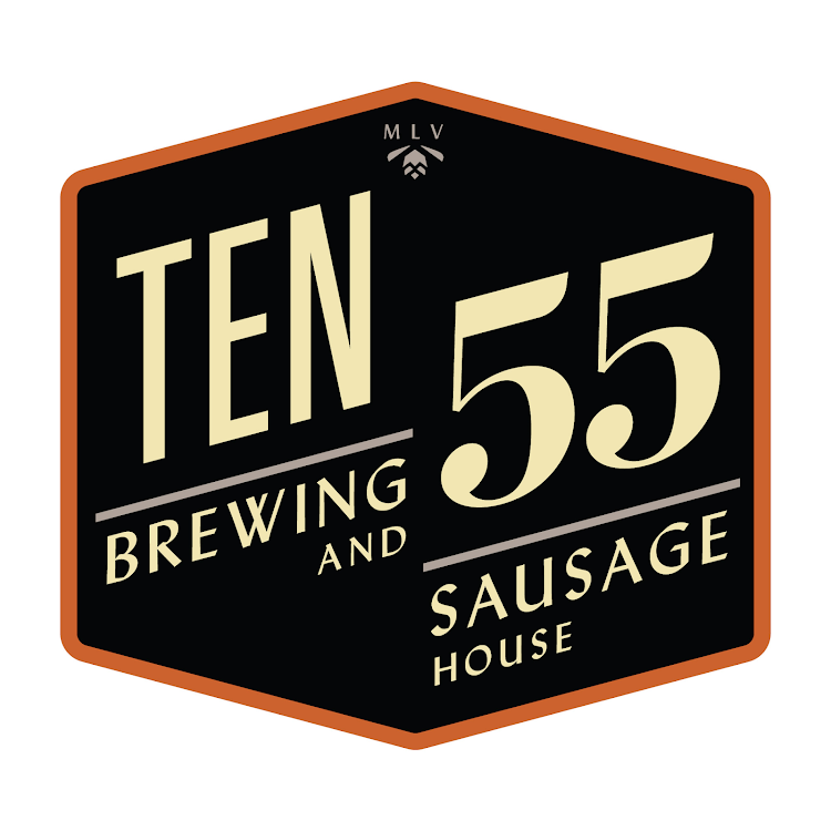 Logo for TEN55 Brewing and Sausage House