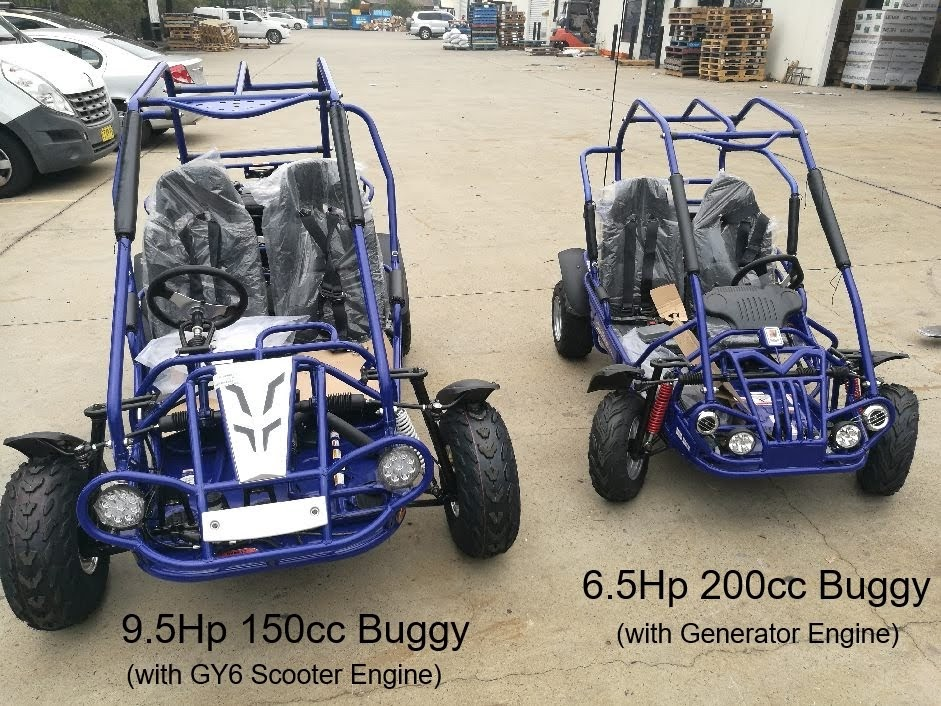 Blue 150cc XRX XRS Trailmaster Dune Buggy Offroad Cocart vs Kids 6.5Hp 200cc XRX Mid Dune Buggy Kart