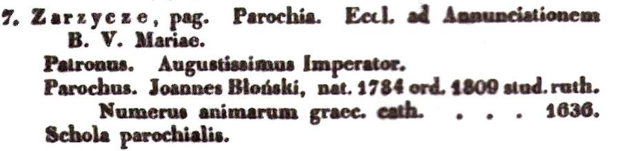 Photo: Витяг  з  шематизму за 1839 рік