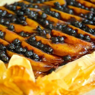 Blueberry Peach Phyllo Galette