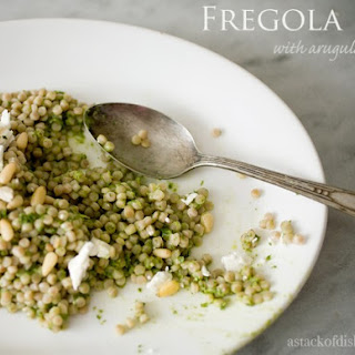 Fregola with Arugula Pesto.