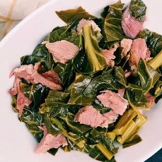 Pressure Cooker Collard Greens with Smoked Ham Hock Recipe
