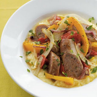 Roasted Vegetables & Italian Sausage with Polenta