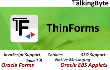 ThinForms - for Oracle Forms, EBS, Discoverer - Chromebeat