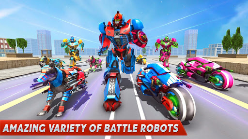 Dog Robot Transform Moto Robot Transformation Game filehippodl screenshot 8
