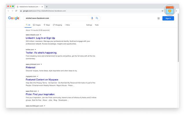 Google Similar Sites
