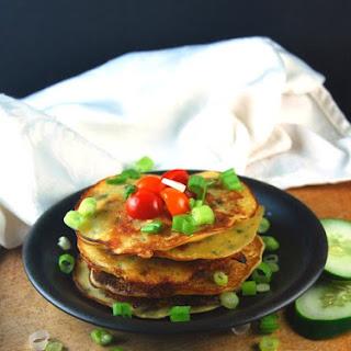 Savory Cucumber Pancakes, Fat Free.