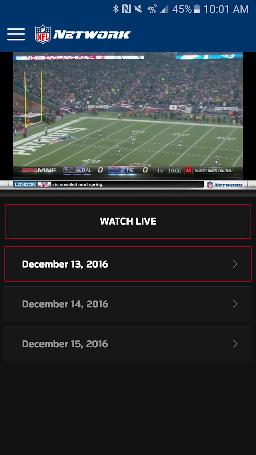 Watch NFL Network- screenshot