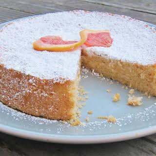 Grapefruit Cake with Grapefruit Curd.