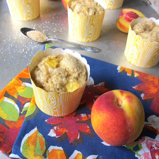Vegan Peach Cornmeal Muffins