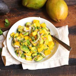 Healthy Mango Avocado Salad.