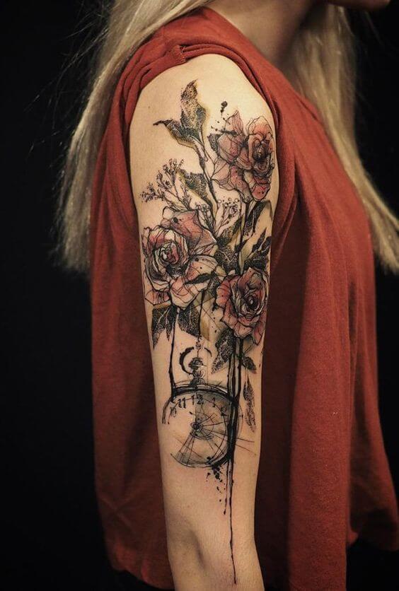 Catchy Female Half Sleeve Tattoos Idea For 2019
