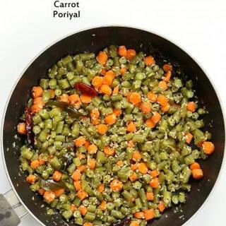 Carrot Green Beans Poriyal