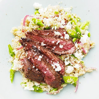 Spiced Hanger Steaks with Spring Quinoa Salad