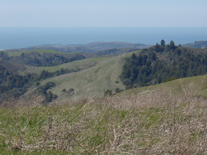 Photo: Pacific Ocean past the hills